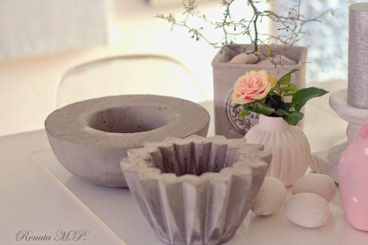i hverdagen, og andre dage: Blomsterkrukker og andre ting støbte i beton - DIY