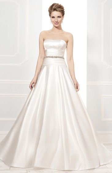 Style:19031 duchess satin a-line gown