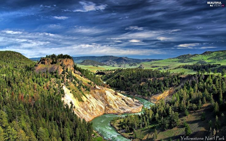 River, Yellowstone, Park, Mountains, national