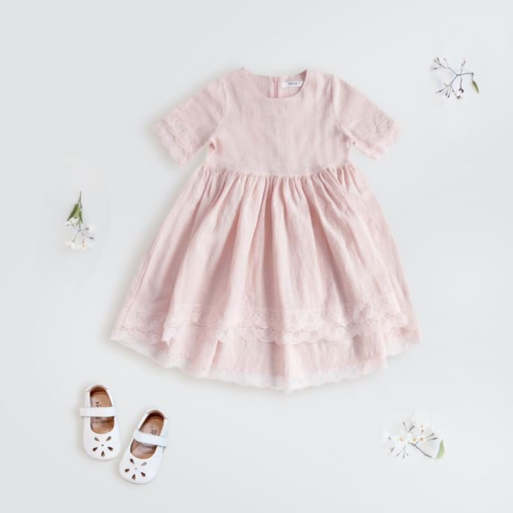 A simply dreamy pink dress with its romantic lace