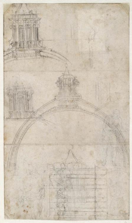 dome of saint peters rome michelangelo buonarroti 1550