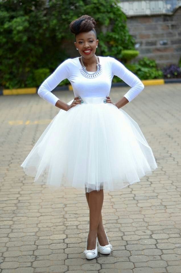 All White Tulle Skirt Kambua Kenyanfashion My Dress My