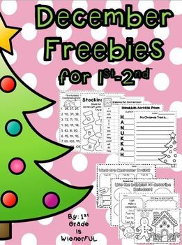 December FREEBIES great for 1st-2nd Grade!!!!! WHOOO HOOOOO! Happy Holidays!!!!! :o)