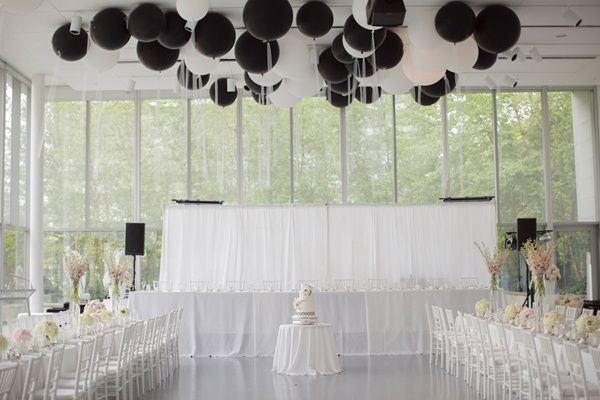 Balloons | Black and White Wedding Inspiration