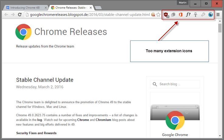 Cara menyembunyikan icon extension di toolbar Google Chrome