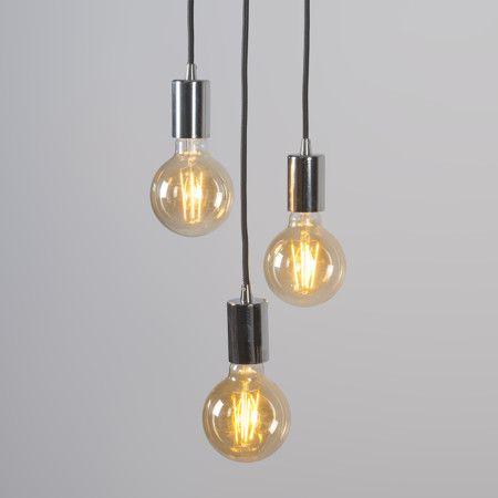 L mpara colgante facil 3 cromo deco interior home l mparas funcionales y minimalistas - Lamparas colgantes minimalistas ...