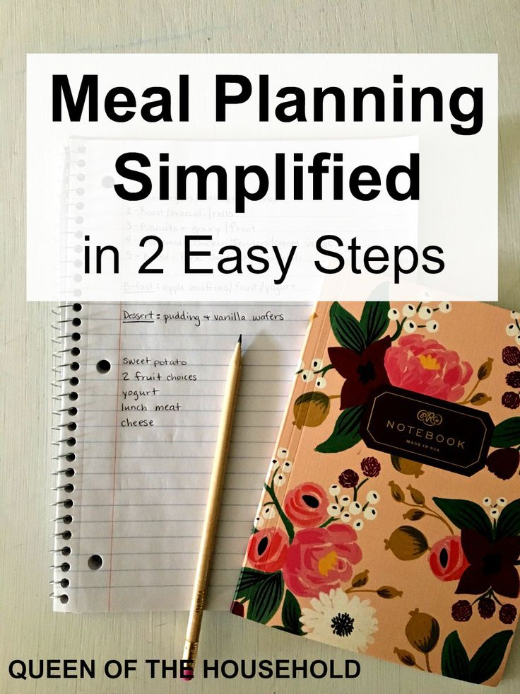 If meal planning seems like a daunting task, I've got great news for you! Meal planning can easily be simplified by implementing these two steps. It's simple and it saves you money!