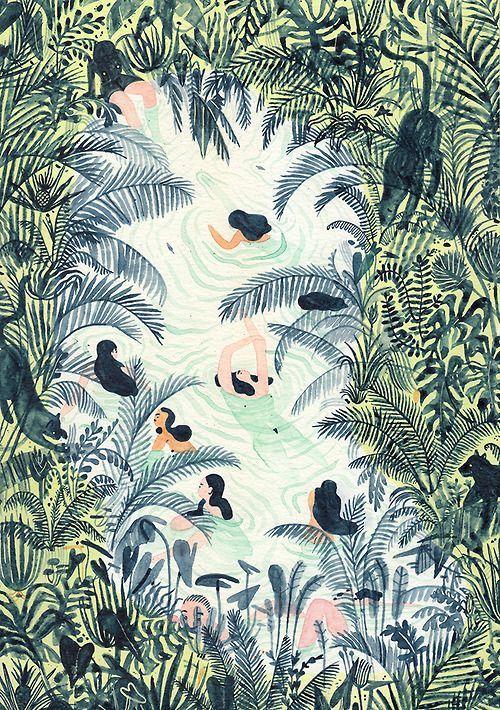nice wild illustration style