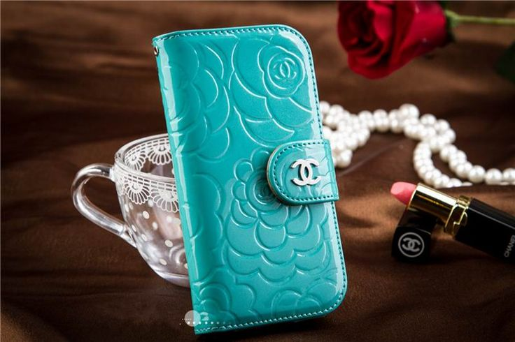 Chanel iphone 6 Case Designs leather Cover Noble wallet green