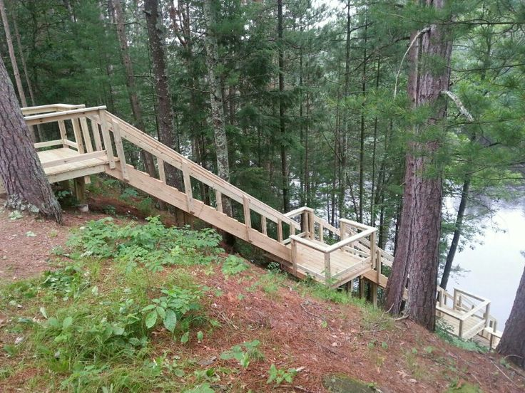 Best 25 wooden steps ideas on pinterest wooden patios for Cost of building on a steep slope