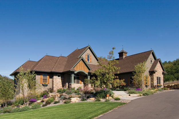 Old-world style with a modern floor plan makes this 4 bedroom European house plan.  European House Plan # 481036.