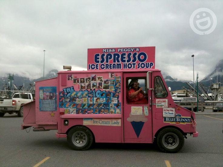 Miss Peggy's Ice Cream Truck in Valdez, Alaska