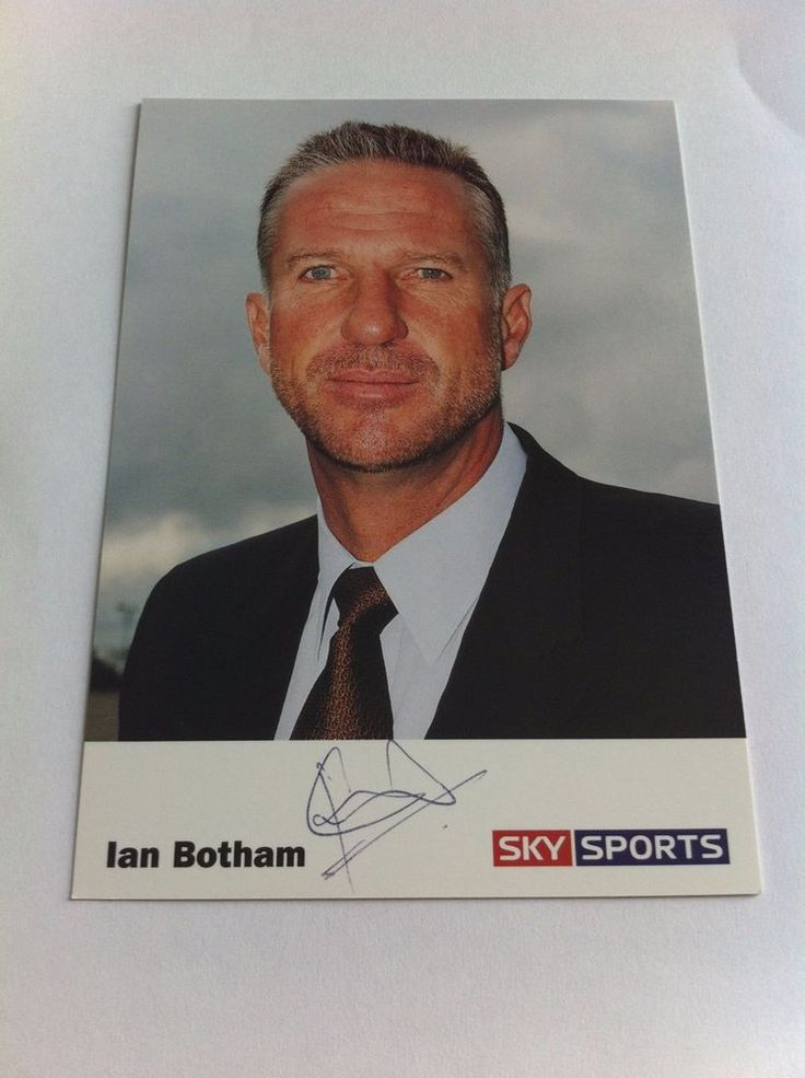 Ian Botham Cricketer TV Presenter Sky Sports Signed Picture/Autograph