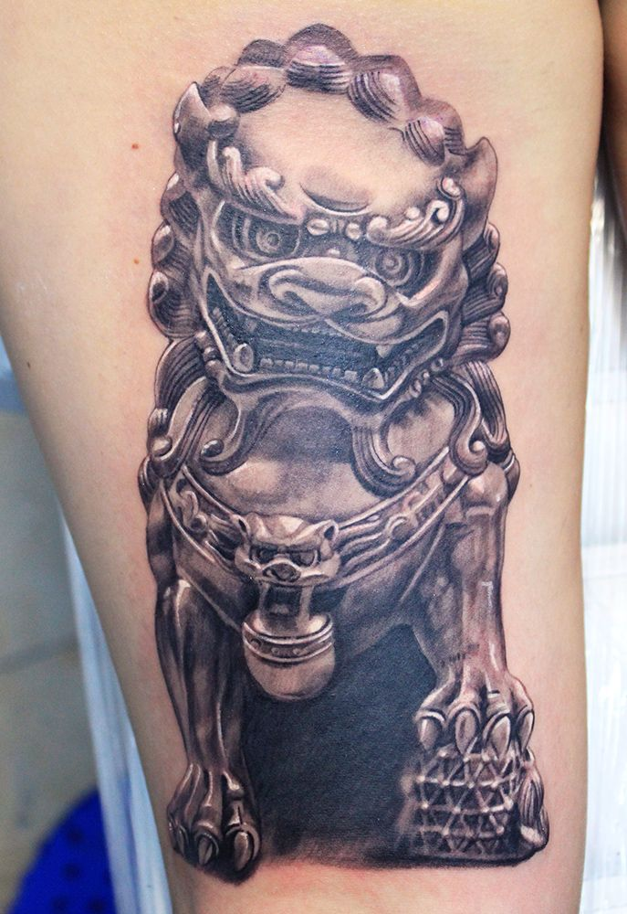 25 best ideas about chinese lion tattoo on pinterest for Die hard tattoo albany oregon