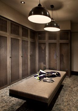 Storage and Closets Design Ideas, Remodels and Pictures love the screen mesh doors!