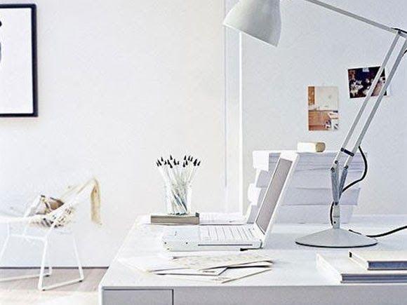Een wit kantoor
