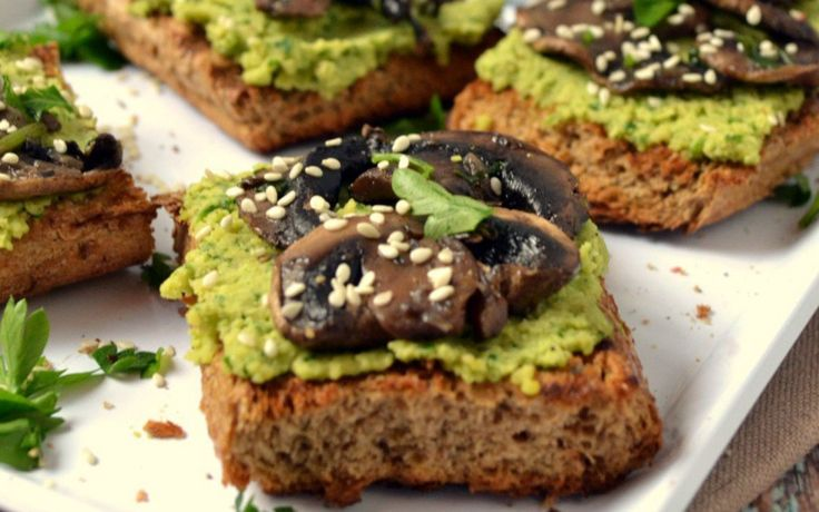 <p>These mushroom pesto bruschetta may not be served the Italian way with tomato and cheese, but they taste fantastic. </p>