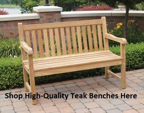 Marvelous Outdoor Jewels Of Java Teak English Garden Bench   4 Ft.