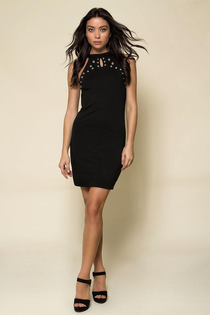 Sleeveless Studding Detail Φόρεμα - ΡΟΥΧΑ -> Φορέματα & Φόρμες | Made of Grace