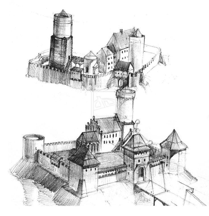 Medieval Castle Drawings Medieval