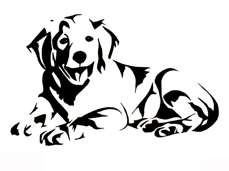 Line Drawing Golden Retriever : Les meilleures images à propos de crafts silhouette