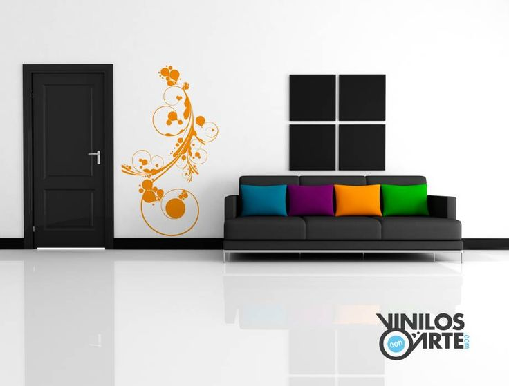 Salas / recibidores de estilo moderno por Vinilos con Arte