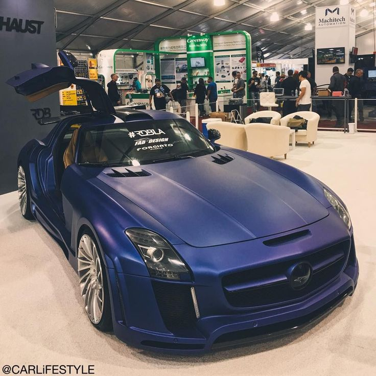 MercedesBenz SLS with a midnight blue paint