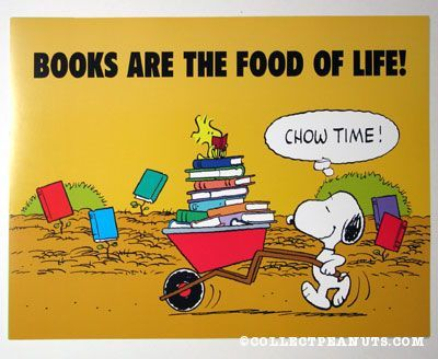Peanuts Posters | CollectPeanuts.com - Books are the food of life