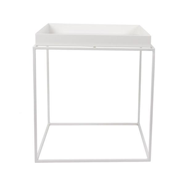 Tray table medium square, white