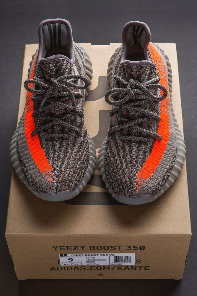 half off 3a398 bf9f2 Adidas Mens Yeezy Boost 350 V2 Beluga Shoes Size 9 D(M) US Gray