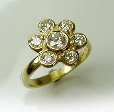 Chibnalls custom made diamond ring for April.....diamond month :)