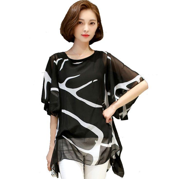Elegant plus size ruffle chiffon blouse #plussize #elegant #womensfashion…