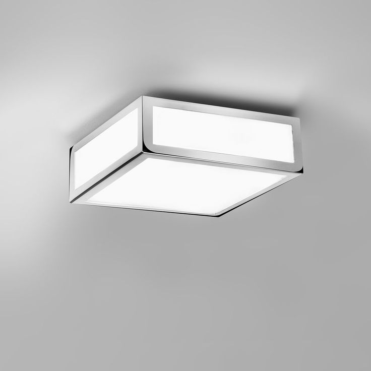 The Mashiko 200 Bathroom Ceiling Lamp Has A Polished Chrome Finish And Is IP44 Rated