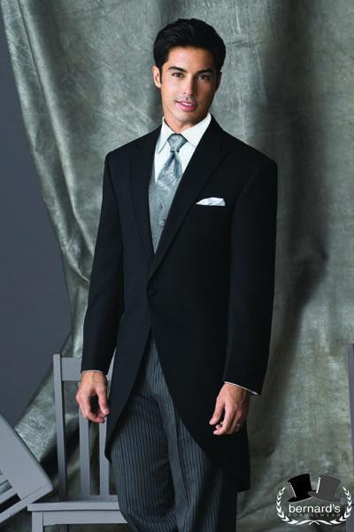 -classic black cutaway #tuxedo  -updated Southern style  www.bernardsformalwear.com   #bernardstux