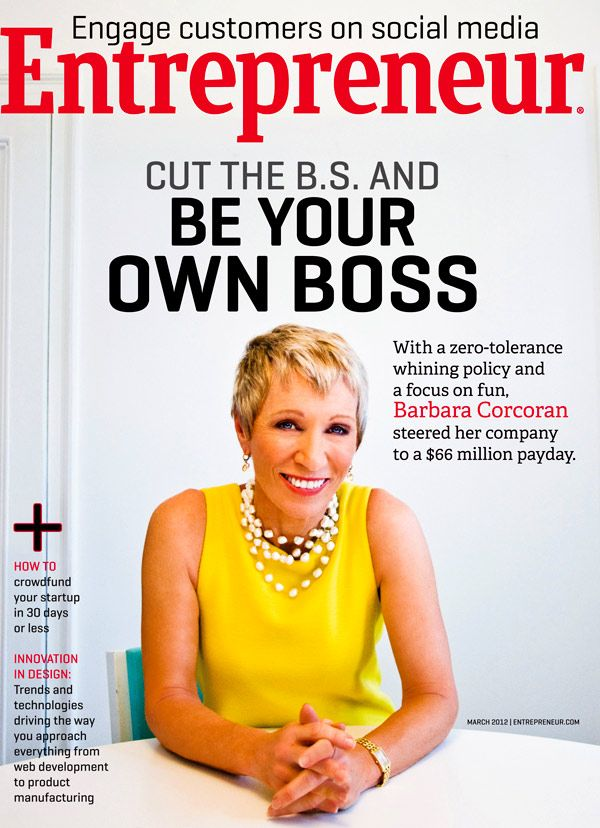"""Cut the B.S. & be your own boss"" literally cut this out and put it on my fridge when this issue came out"