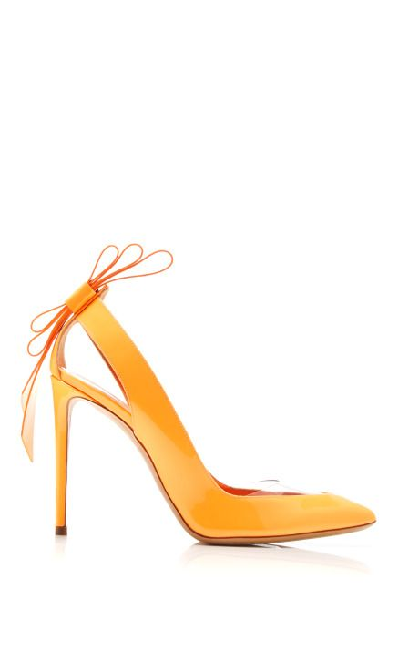 Origami Bow Pump In Orange by Nicholas Kirkwood for Preorder on Moda Operandi
