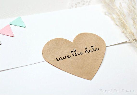 Speichern Sie die Datum 50 Kraft Herz Aufkleber groß - Geschenk-Tag, Hochzeitsbevorzugungen, Bridal Shower, Einladungen, stationär, Handwerk auf Etsy, 5,94€