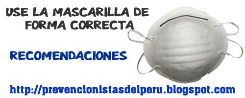 uso de mascarillas de seguridad | Prevención de Riesgos Laborales: RECOMENDACIONES PARA EL USO DE ...