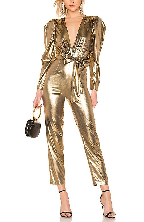 ed1829b71bc GIVE NYE YOUR BEST GLOW Metallic Jumpsuits Inspired by Gigi Hadid