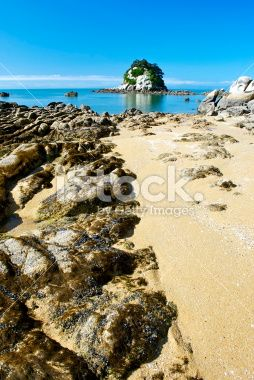 View across Little Kaiteriteri Beach, Tasman, New Zealand Royalty Free Stock Photo
