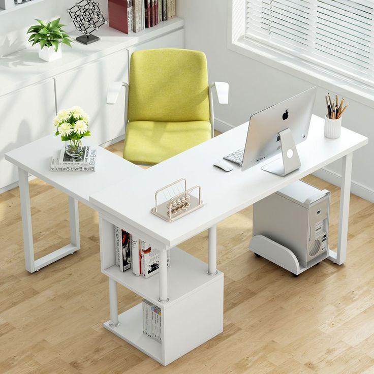 Corner Computer Desk, L Shaped Desk For Small Office