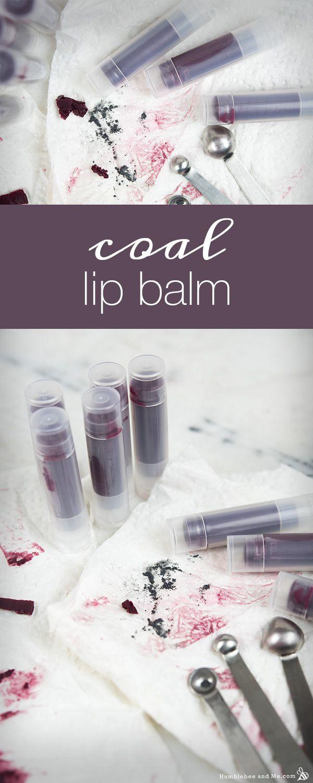 How to Make Tinted Coal Lip Balm