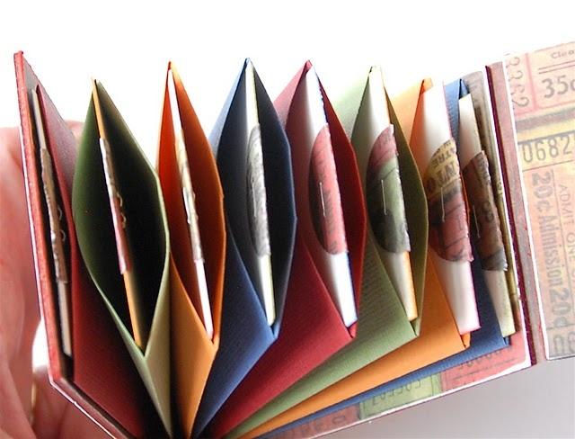 Anleitung für Briefumschlagbuch aus Coin-envelopes (Münzumschlägen). Alternative für Miniform: Scallop Envelope / SU