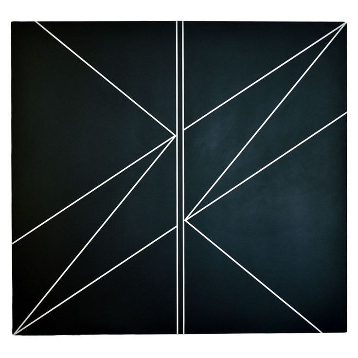 1973 Hard Edge Painting by Duayne Hatchett (1925-) | From a unique collection of antique and modern paintings at http://www.1stdibs.com/furniture/wall-decorations/paintings/