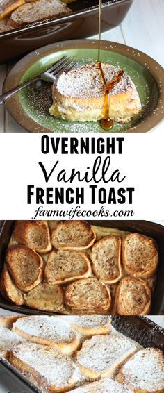 Are you looking for an easy overnight breakfast recipe? This Overnight Vanilla French Toast recipe will quickly become a family tradition!