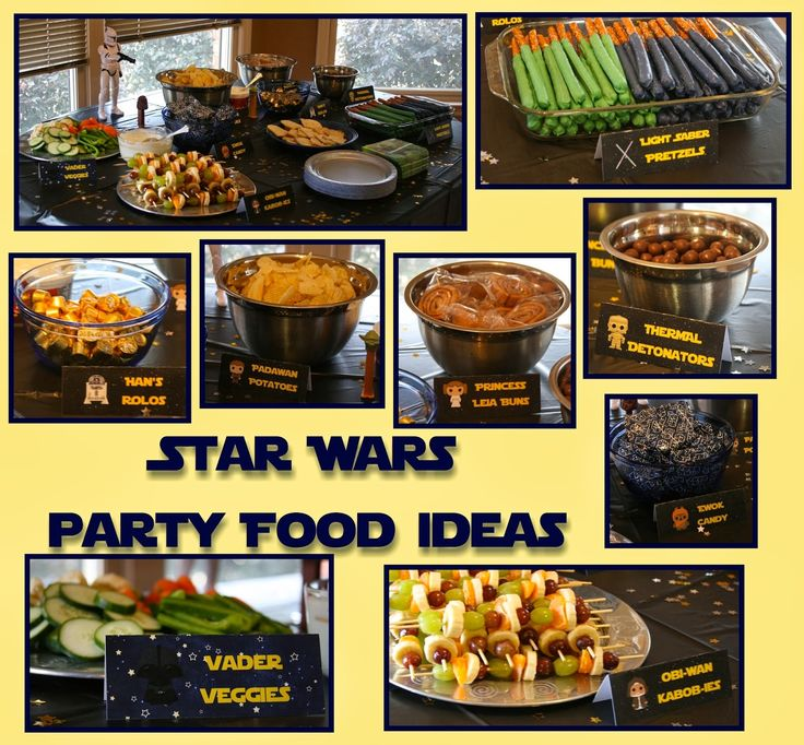 After planning the games and activities for my son's 5th Star Wars Birthday Party, the food was definitely next on the list! There were so many great ideas on Pinterest for Star Wars themed food. I