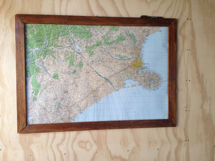The boys needed a place for their map, I found some old timber and made a frame.