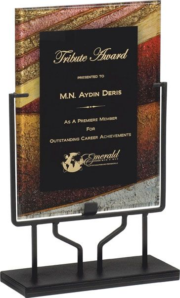 Gold, Acrylic Art Plaque & Stand