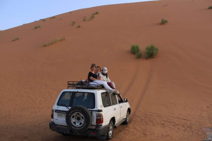 The 4x4s in the Sahara