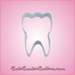 Tooth-shaped cookie cutter for your tooth shaped cookies